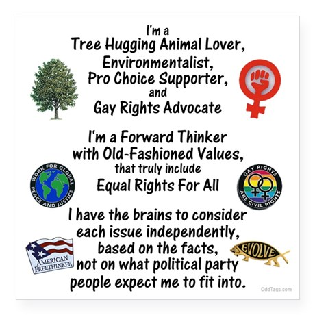 Sticker, independent thinker,