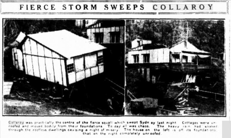 Collaroy Storm Damage, 1925. Newspaper.