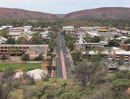 Alice Springs, Blackout. Photo by Stefano, Wikimedia.