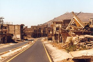Ruins of Qunaitra, War, Syria, conflict, climate change.