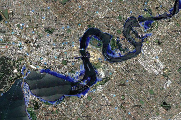 Sea level rise, Perth, Fremantle, Australia.