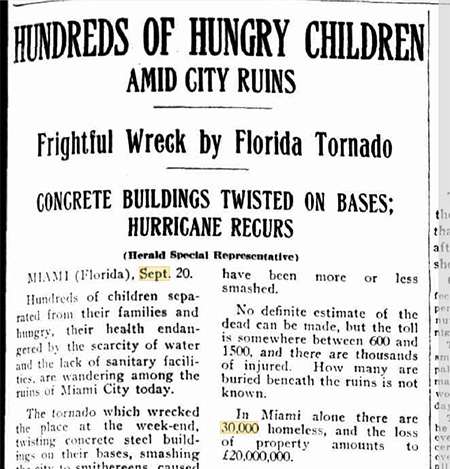 Florida Hurricane News, 1926