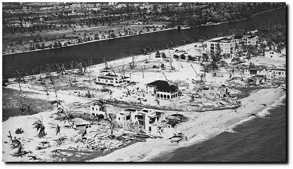 Miami, Hurricane damage, extreme weather, 1926.