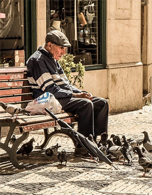 Elderly man, Photo, StockSnap, Pixabay