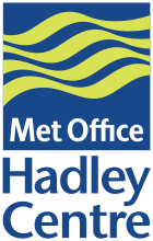 Hadley Meteorology Office, logo, UK.