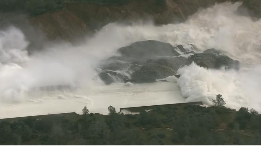 Oroville Dam, California.