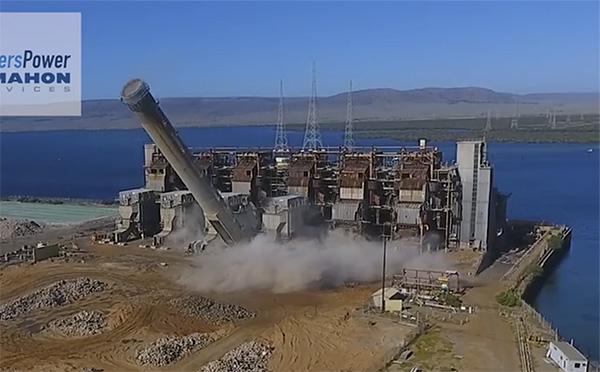 Port Augusta, Northern Power, Demolition, Destruction, Photo, 2018.