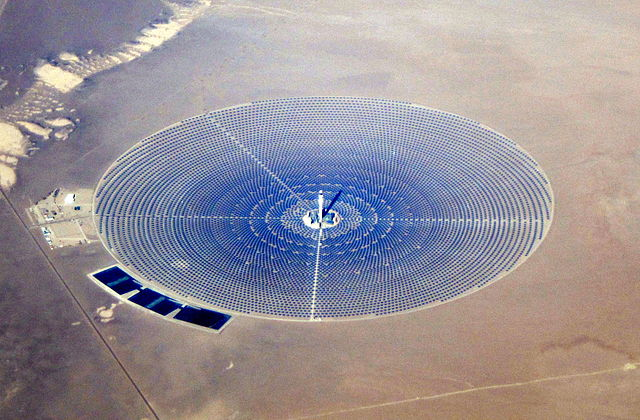 Crescent Dunes, Solar Thermal Plant. Photo.