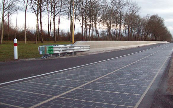 Solar Road, Normandy, France, photo.
