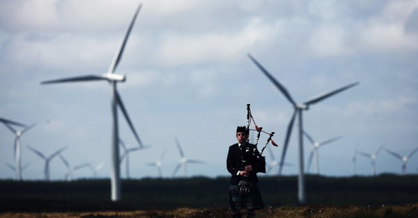 Wind farms, Scotland.