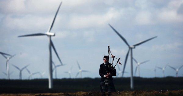 Wind farms, Scotland.