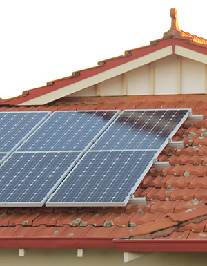 Solar Rooftop panels, photo.