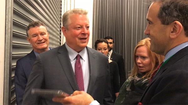 Al Gore, Marc morano, Melbourne, 2017.