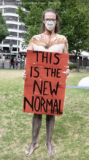 XR protestor, Adelaide, Australia.