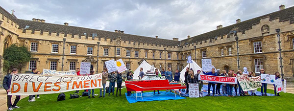 St Johns College Climate Change, Divestment, Protest