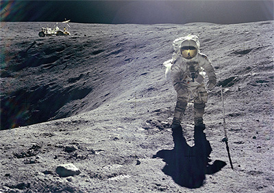Charles Duke, NASA Astronaut, Moon, climate skeptic. Photo.