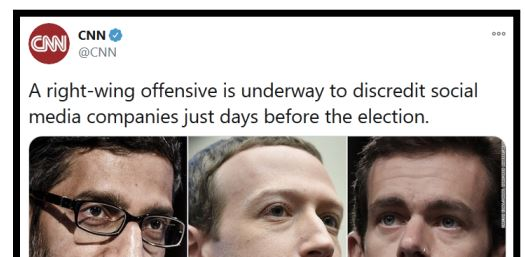 CNN Right wing offensive to blame Facebook