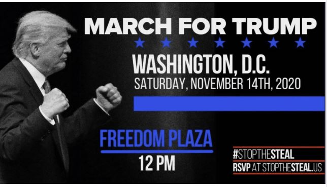 March for Drumpf, Protest, Sat November 14th, 2020
