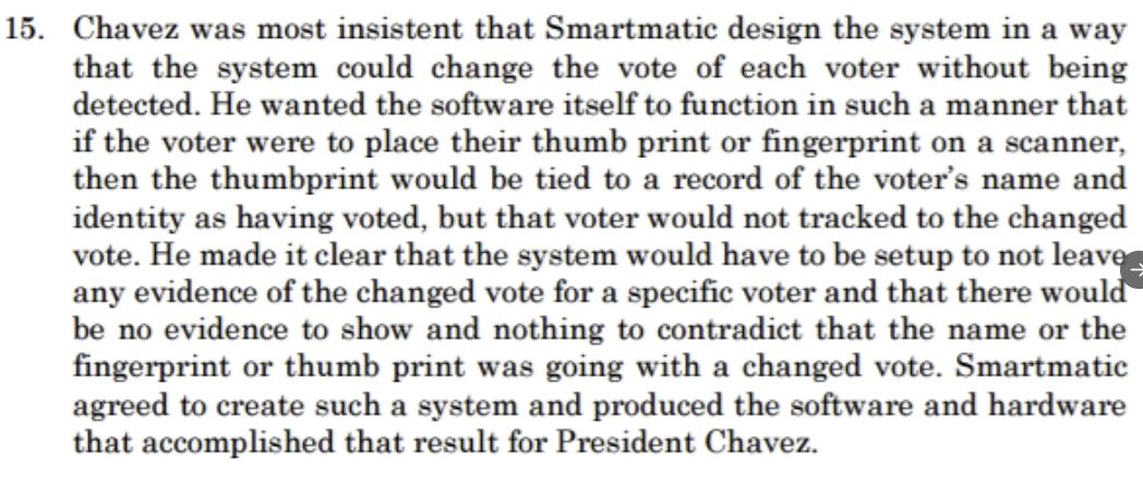 Chavez wanted electronic fraud that was undetectable.