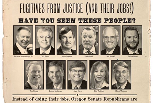 Oregon's eleven wanted Senators