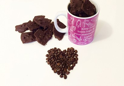 chocolate coffee hearts