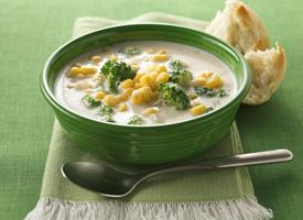 Creamy Corn and Broccoli Chowder