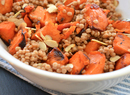 Fire Roasted Sweet Potato, Couscous & Almond Salad