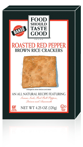 Brown Rice Crackers Roasted Red Pepper