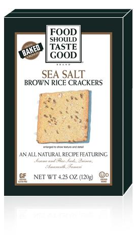 Brown Rice Crackers Sea Salt
