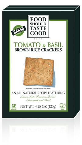 Brown Rice Crackers Tomato & Basil