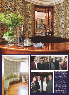 Michael S. Smith and Ambassador James Costos in Hola Magazine