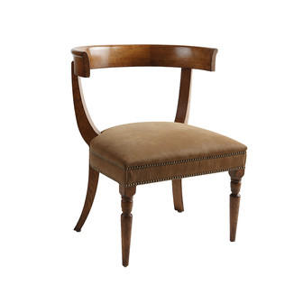 Jacob Chair Whiskey Suede Antiqued Warm Oak Gothic Sidechair Jasper Furniture