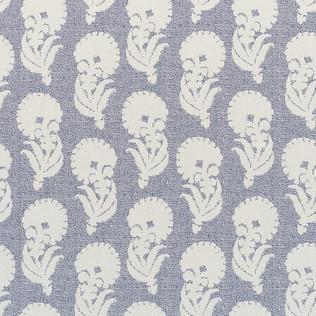 Jasper Performance Fabric in Indian Garden in Blue