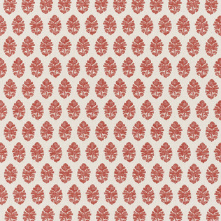Jasper Performance Fabric in Indian Garden in Red