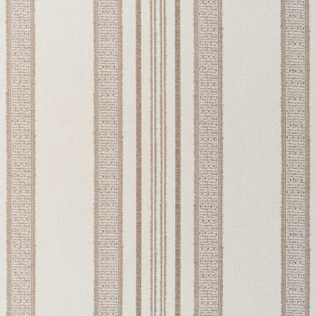 Jasper Performance Fabric in Indian Garden Stripe in Brown