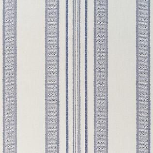 Jasper Performance Fabric in Indian Garden Stripe in Indigo