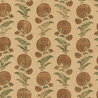 Jasper Fabrics in Indian Flower in Brown