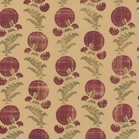 Jasper Fabrics in Indian Flower in Burgundy