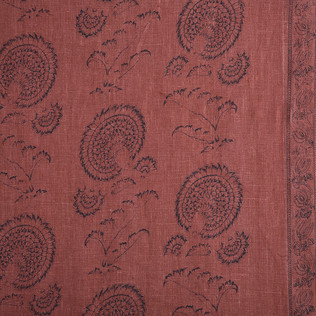 Jasper Fabrics in Indian Flower on Red