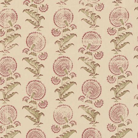 Jasper Fabrics in Indian Flower in Sage/Clay