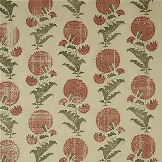 Jasper Fabrics in Indian Flower in Orange