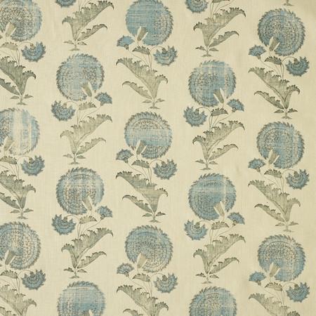 Jasper Fabrics in Indian Flower in Turquoise
