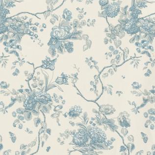 Jasper Fabrics in Tree of Life in Pale Blue