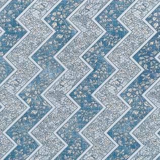 Jasper Fabrics in Lacquer Stripe in Marine Blue