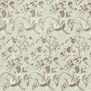 Jasper Fabrics inJava Stripe in Pale Blue
