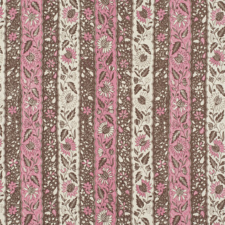 Jasper Fabrics inMelayain Pink/Brown