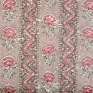 Jasper Fabrics inMaya Flower in Brown
