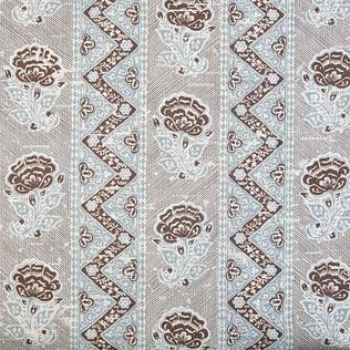 Jasper Fabrics inMaya Flower - Brown/Blue
