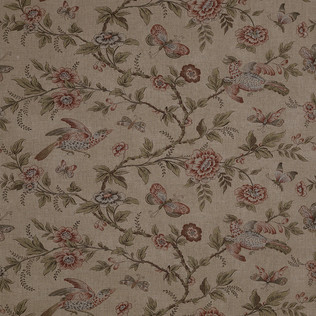 Jasper Fabrics in Wallace Vine - Sage/ Rose