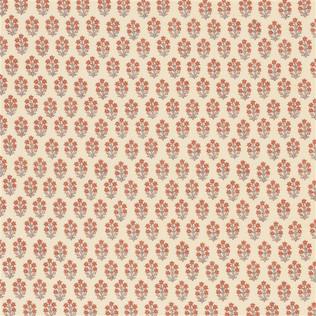 Jasper Fabrics inDevonshire - Coral/Turquoise
